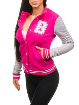 Bolf Damen Baseball Sweatshirt Rosa 19S
