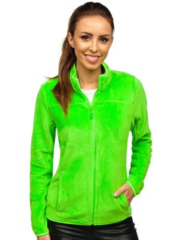 Bolf Damen Fleece Sweatshirt Grün-Neon  HH001