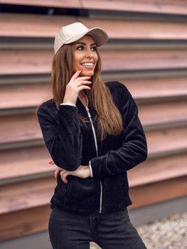 Bolf Damen Fleece Sweatshirt Schwarz-Rosa  HH002