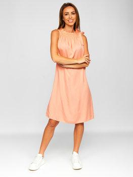 Bolf Damen Kleid Orange  9785