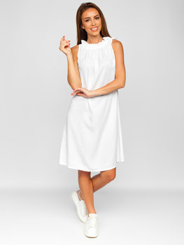 Bolf Damen Kleid Weiß  9785