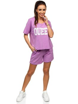 Bolf Damen Sportanzug Violett  7505