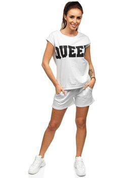 Bolf Damen Sportanzug Weiß  30305