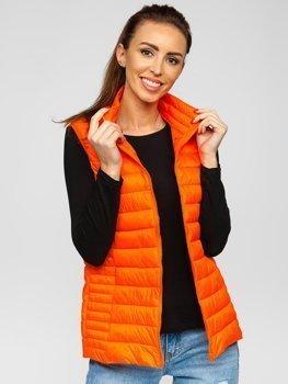 Bolf Damen Stepp Weste Orange-Neon 23038