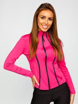 Bolf Damen Sweatshirt ohne Kapuze Rosa  HH020