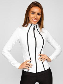 Bolf Damen Sweatshirt ohne Kapuze Weiß  HH020