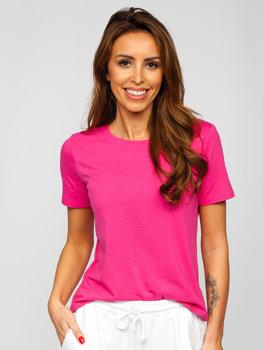 Bolf Damen T-Shirt ohne Motiv Rosa SD211