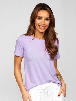 Bolf Damen T-Shirt ohne Motiv Violett SD211