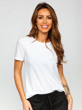 Bolf Damen T-Shirt ohne Motiv Weiß SD211