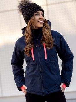 Bolf Damen Winterjacke Skijacke Dunkelblau  HH012