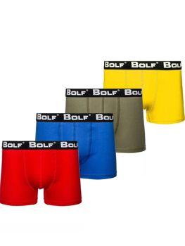 Bolf Herren Boxershorts Mehrfarbig  0953-4P 4 PACK