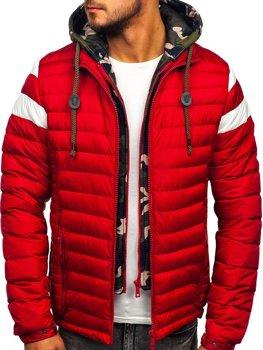 Bolf Herren Gepolsterte Winterjacke Sport Jacke Rot  50A462