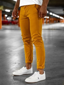 Bolf Herren Hose Chino Orange  1146