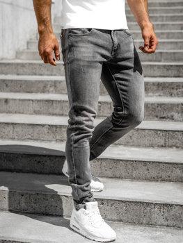 Bolf Herren Jeans Hose skinny fit Schwarz  KX598