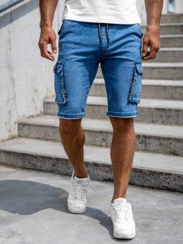 Bolf Herren Jeans Shorts Cargo Hose Dunkelblau  HY775