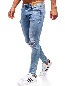 Bolf Herren Jeans skinny fit Dunkelblau  KA1733-1