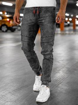 Bolf Herren Jeanshose Jogger Pants Schwarz  HY684
