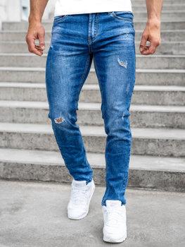 Bolf Herren Jeanshose regular fit Dunkelblau  K10006-1