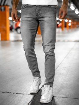 Bolf Herren Jeanshose regular fit Grau  R905