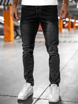 Bolf Herren Jeanshose regular fit Schwarz  R902