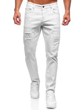 Bolf Herren Jeanshose regular fit Weiß  4020-1