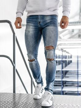 Bolf Herren Jeanshose skinny fit Blau  3943