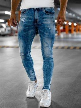 Bolf Herren Jeanshose skinny fit Dunkelblau  KX526