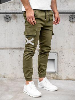 Bolf Herren Jogger Pants Cargo Hose Khaki  KA1910
