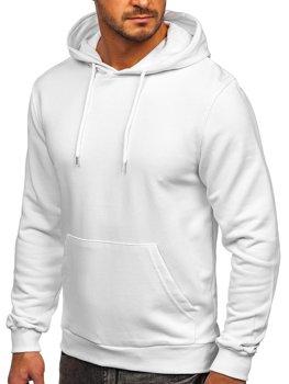 Bolf Herren Kapuzenpullover mit Känguru-Tasche Weiß  146253