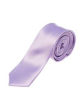 Bolf Herren Krawatte Dunkelviolett K001