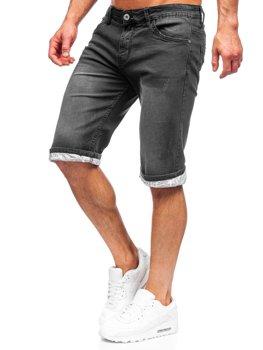 Bolf Herren Kurze Hose Jeans Shorts Schwarz  K15004-2
