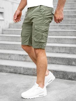 Bolf Herren Kurze Hose Shorts Cargo Hose Camo Grün  DF3053