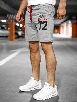 Bolf Herren Kurze Sporthose Grau EX05