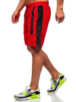 Bolf Herren Kurze Sporthose Rot  KS2521