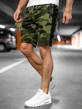 Bolf Herren Kurze Sporthose Shorts Camo Khaki  K10037