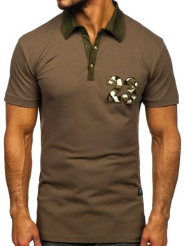 Bolf Herren Poloshirt Khaki  2058