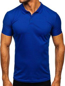 Bolf Herren Poloshirt Kobaltblau  GD02