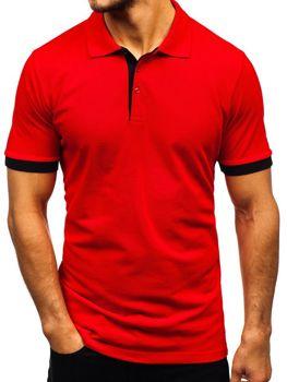 Bolf Herren Poloshirt Rot  171222