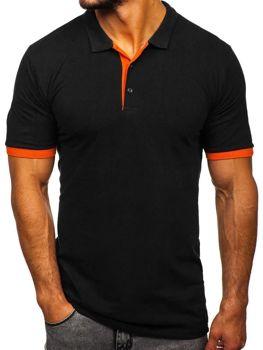 Bolf Herren Poloshirt Schwarz-Orange  171222-1
