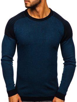 Bolf Herren Pullover Blau  0004
