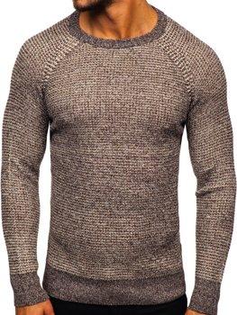 Bolf Herren Pullover Braun H1932