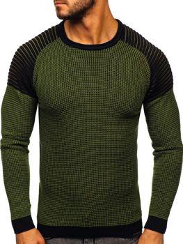 Bolf Herren Pullover Grün  0004