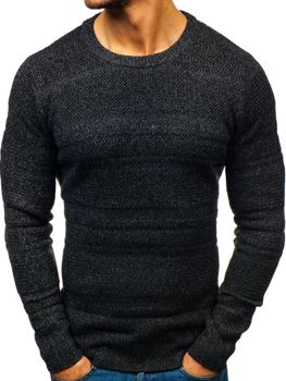Bolf Herren Pullover Schwarz  H1805