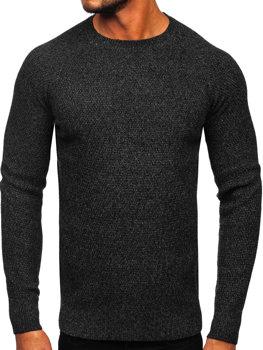 Bolf Herren Pullover Schwarz  H1810