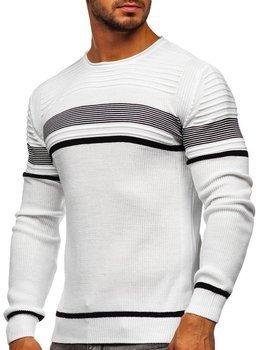 Bolf Herren Pullover Weiß  1061