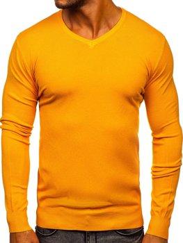 Bolf Herren Pullover mit V-Ausschnitt Gelb  YY03