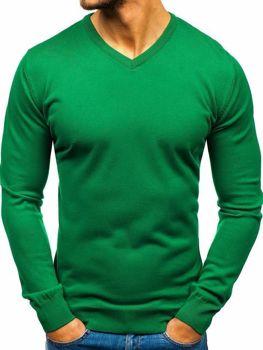 Bolf Herren Pullover mit V-Ausschnitt Grün  2200