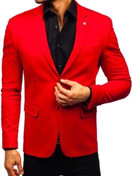 Bolf Herren Sakko Elegant Rot  191060