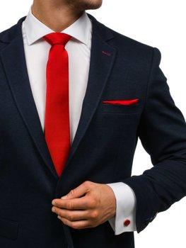 Bolf Herren Set Krawatte, Manschettenknöpfe, Einstecktuch Dunkelrot  KSP01