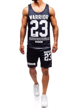 Bolf Herren Set T-Shirt + Kurze Hose  Dunkelblau 100778